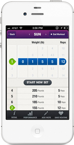 Fitocracy running on iPhone