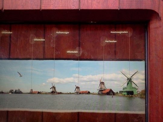 Fingerprint affordances on touch screen at the Zaanse Schans museum