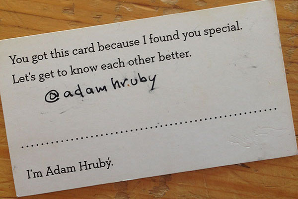 Adam Hrubý's smart business card