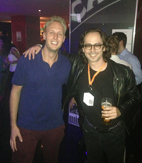 Meeting Jesse James Garrett at WebExpo 2013 - Vincent van Scherpenseel